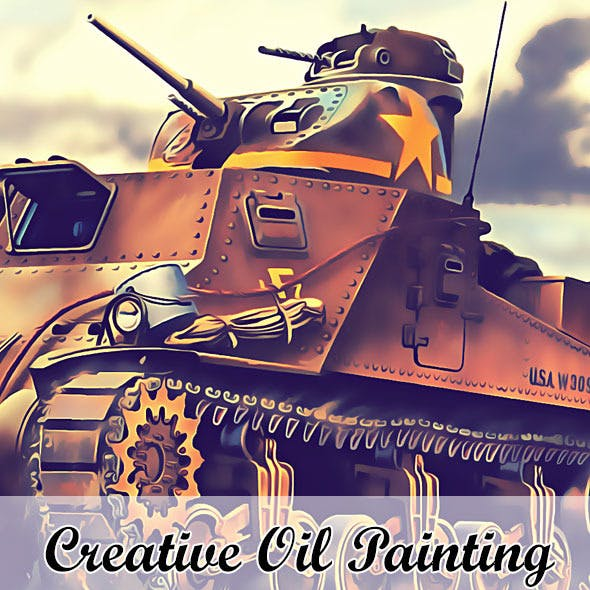 Creative Oil Paint Photoshop Action