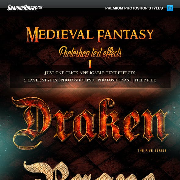 Medieval Fantasy Game Style Text Effects 1