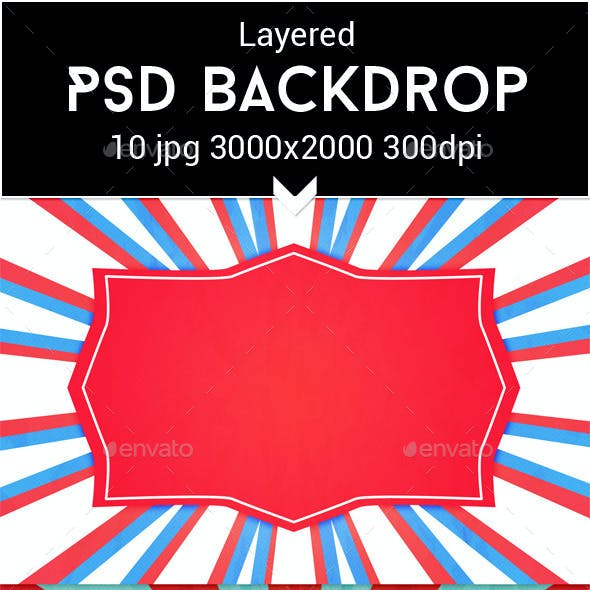 Circus PSD Backdrop