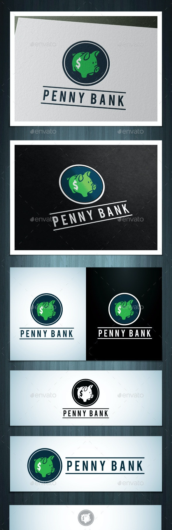 Penny Bank - Vector Abstract