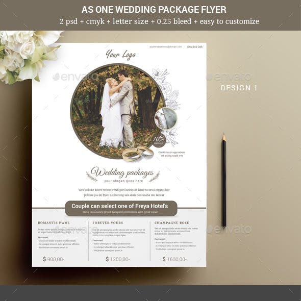 As One Wedding Event Flyer