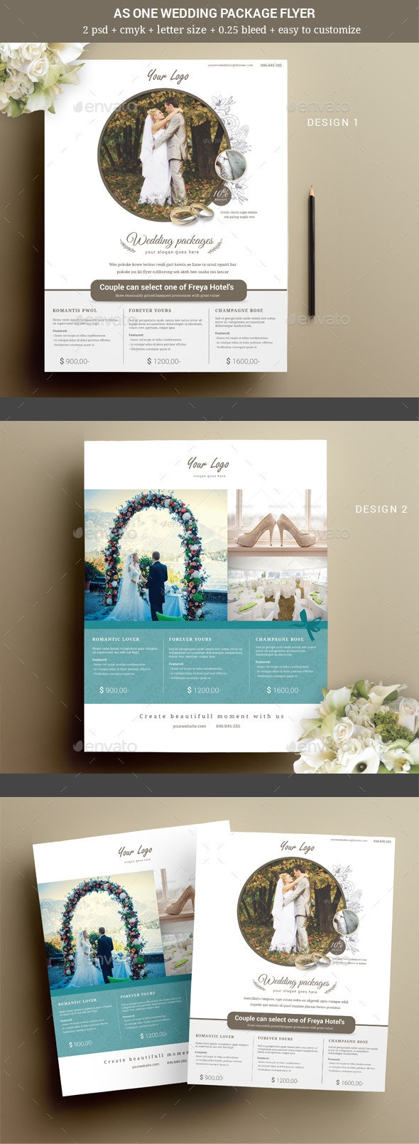 As One Wedding Event Flyer - Weddings Cards & Invites