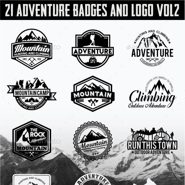 21 Adventure Badges and Logo Vol2