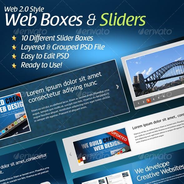 Web 2.0 Styled Slider Boxes