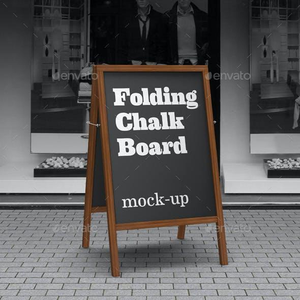 Folding Chalkboard Mock-Up