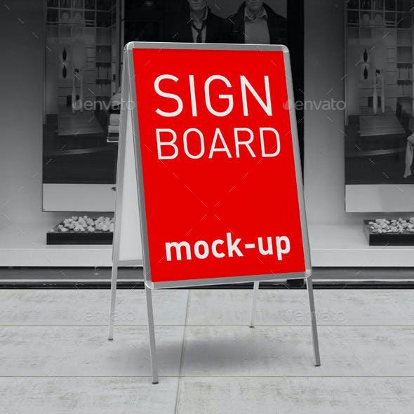 Sign Board Display Mock-up