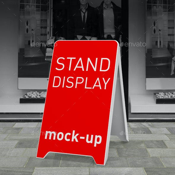 Stand Display Board Mock-up
