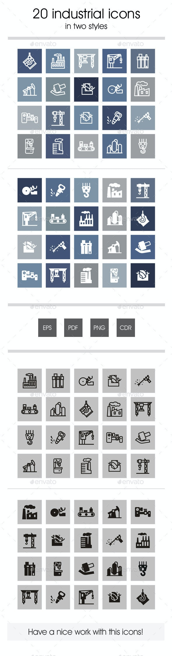20 Industrial Icons - Technology Icons