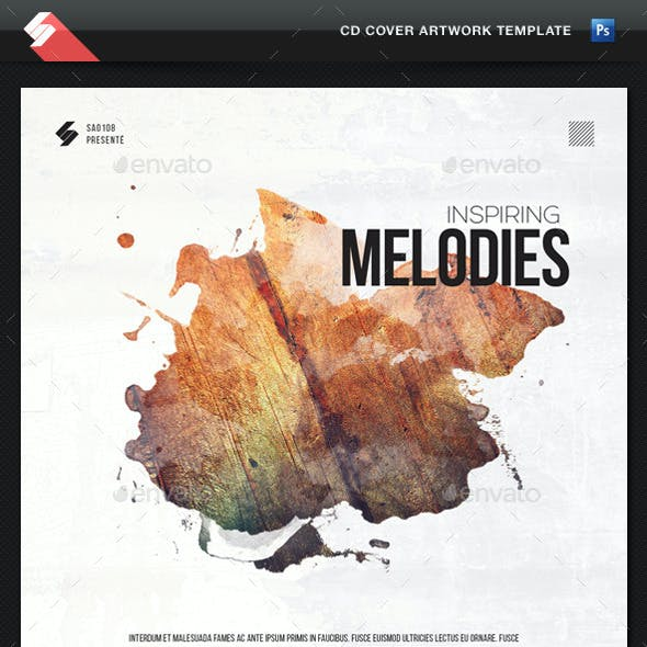 Inspiring Melodies - CD Cover Artwork Template