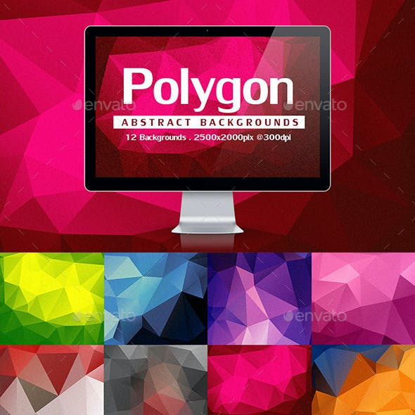 12 Abstract Polygon Backgrounds