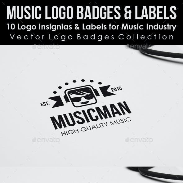 Music Logo Badges & Labels