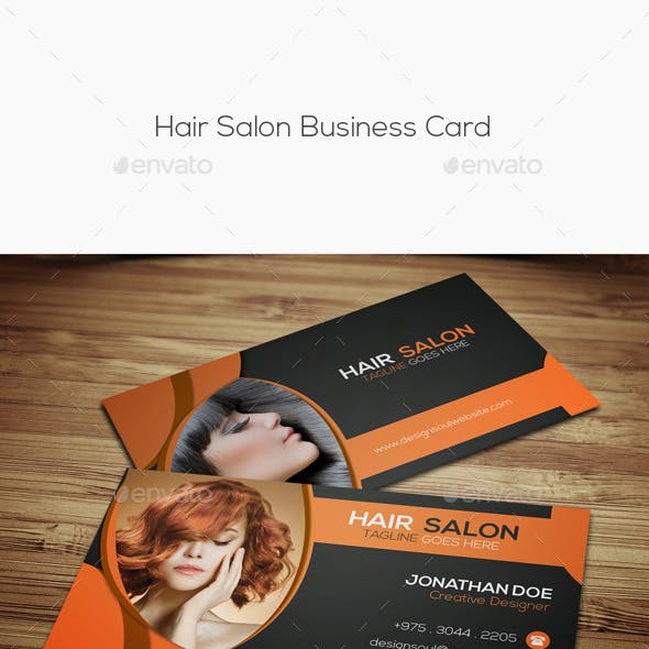 Hair Salon Business Card Templates