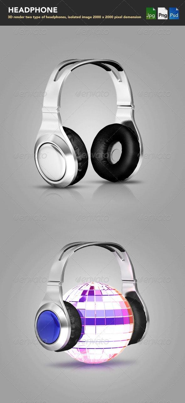 Headphones  - Objects 3D Renders