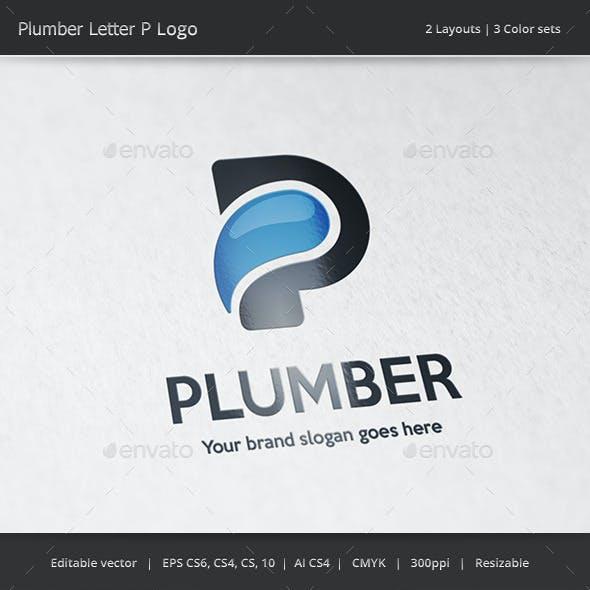 Plumber Letter P Logo