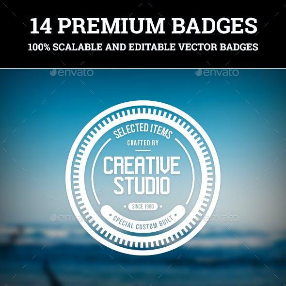 C.Kav - 14 Premium Vector Badges