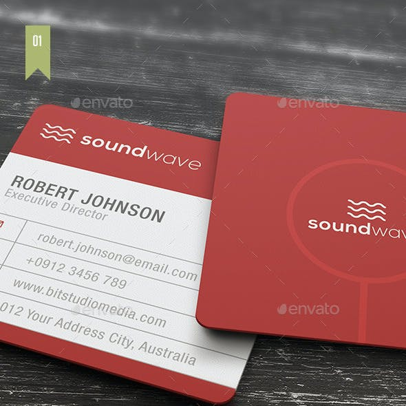 Square Business Card V.001