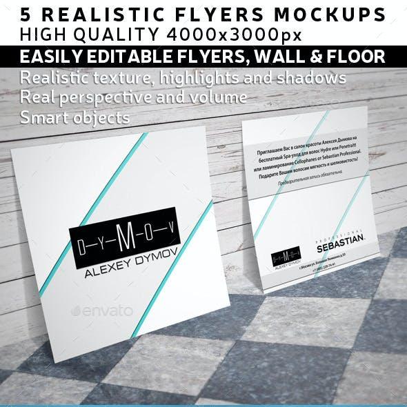 Square Flyer / Leaflets Mock-Up