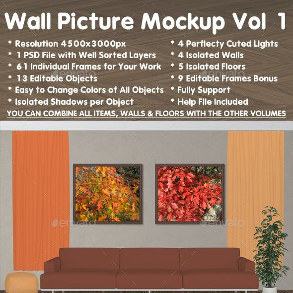 Wall Picture Mock-Up vol 1