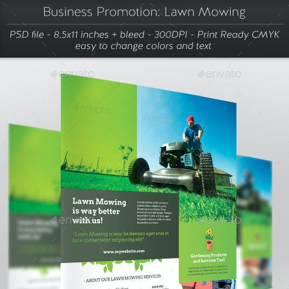 Business Promotion: Lawn Mowing