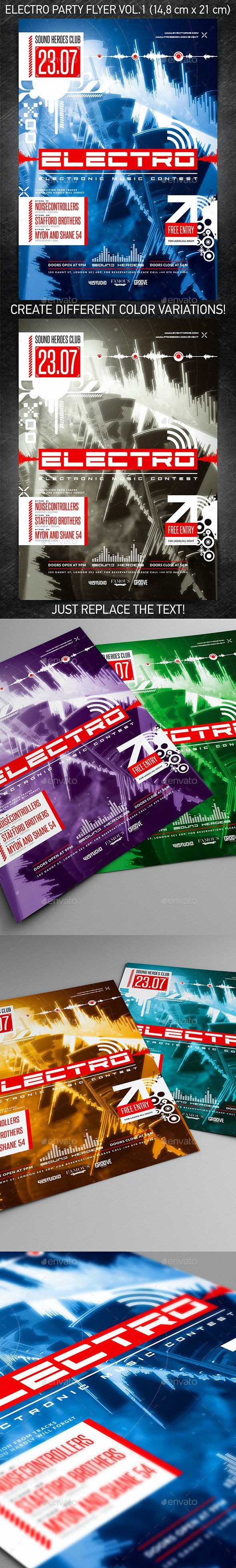 Electro Party Flyer vol.1 - Events Flyers