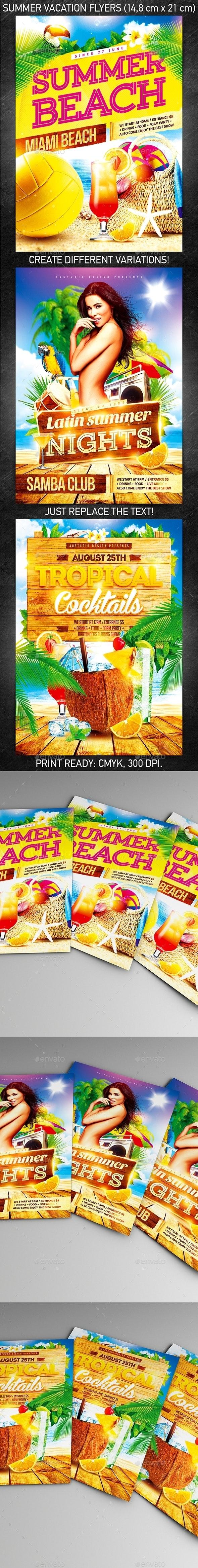 Summer Vacation Flyer Bundle vol.2 - Events Flyers