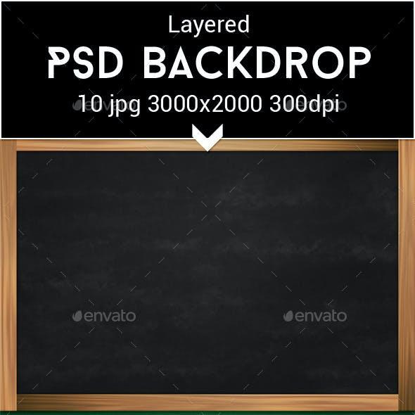 Chalkboard PSD Backdrop