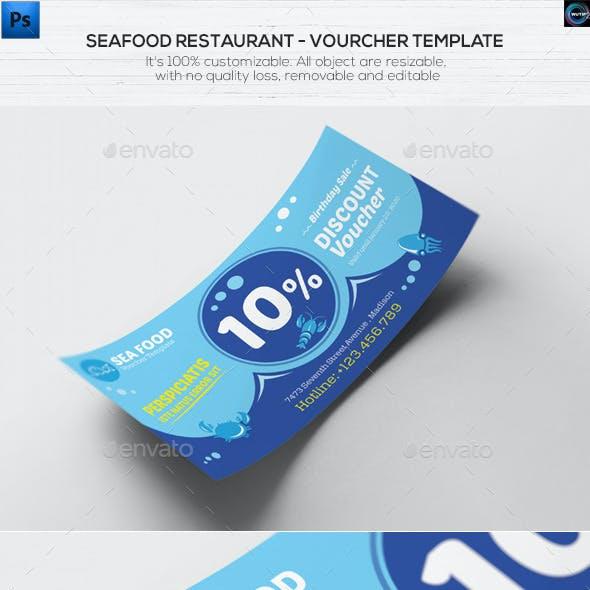Seafood Restaurant - Voucher Template