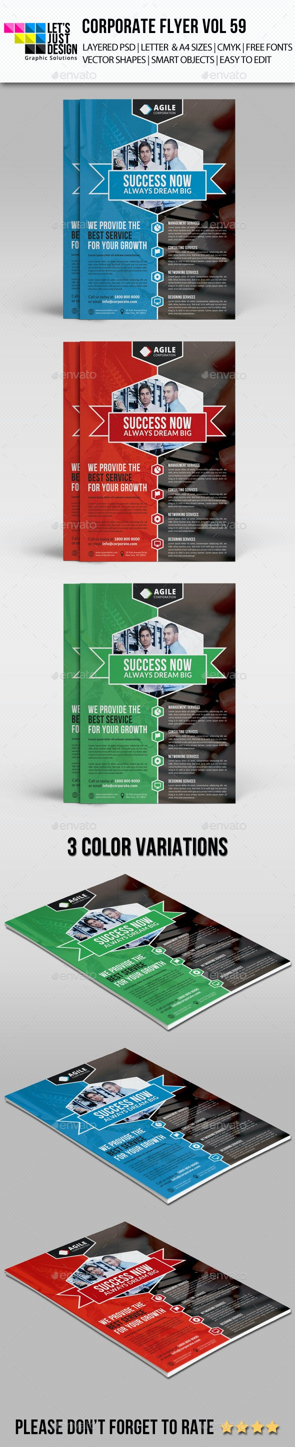 A4 Corporate Flyer Template Vol 59 - Corporate Flyers