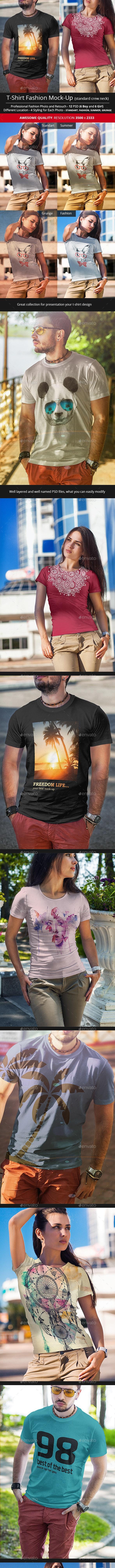 T-Shirt Fashion Mock-Up v2 - T-shirts Apparel