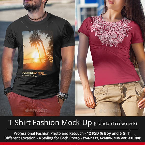 T-Shirt Fashion Mock-Up v2