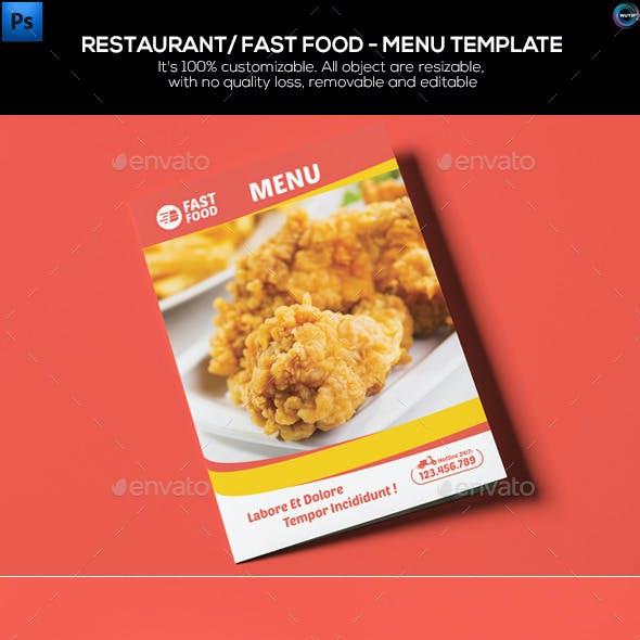 Restaurant/ Fast Food - Menu Template