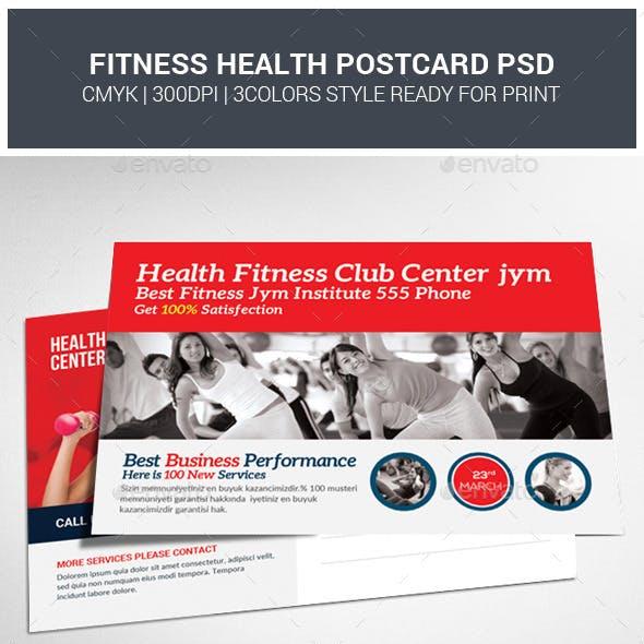 Health Fitness Postcard Psd