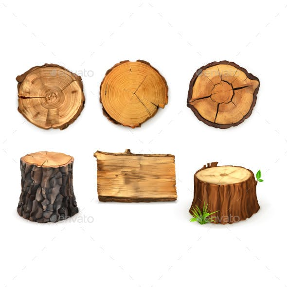 Wooden Stumps Icons