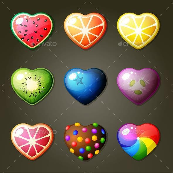Fruit Heart Candies