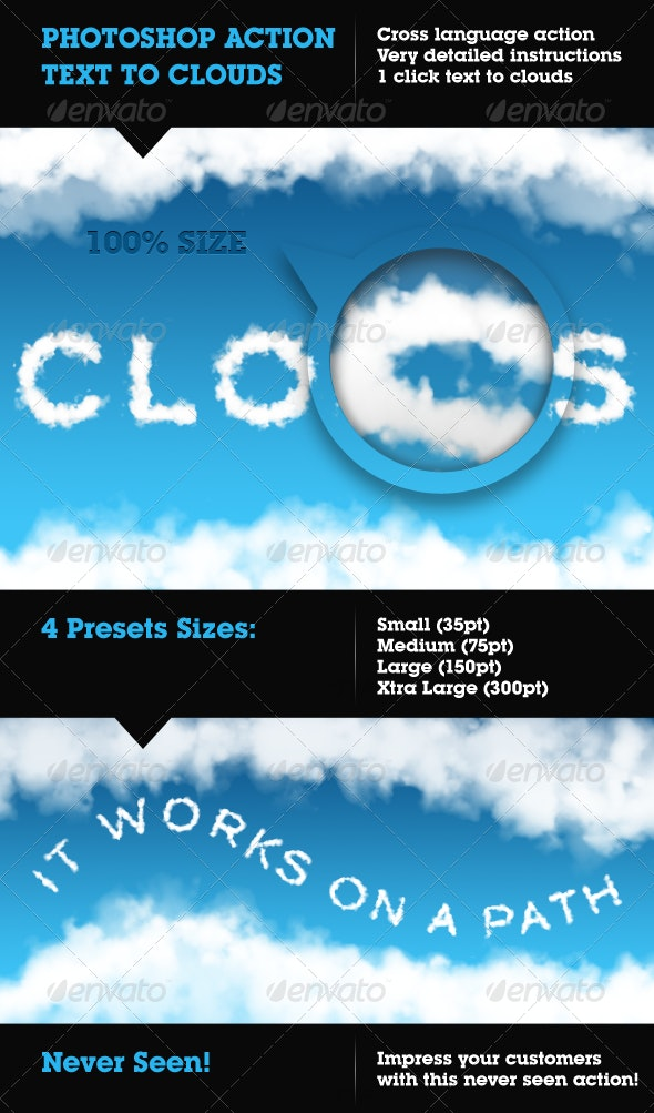 Cloudify - Text to Clouds Photoshop Action - Utilities Actions