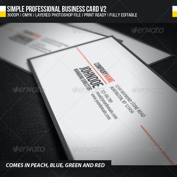 Simple Professional Business Card V2