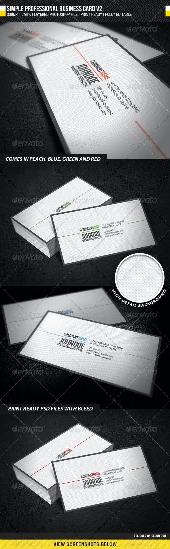 Simple Professional Business Card V2 - Corporate Business Cards