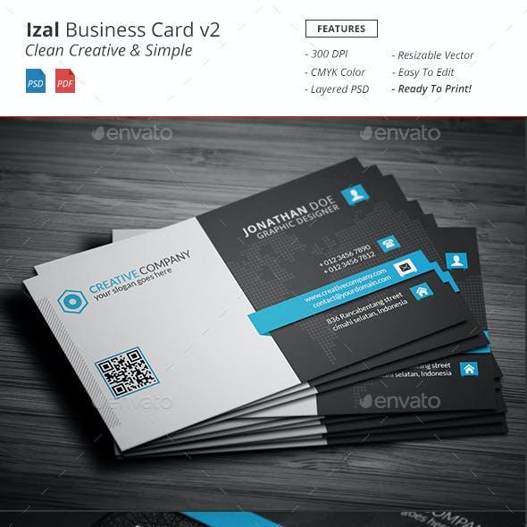 Izal - Clean Creative Bussiness Card v2