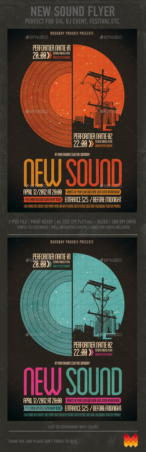 New Sound Flyer/Poster - Clubs & Parties Events