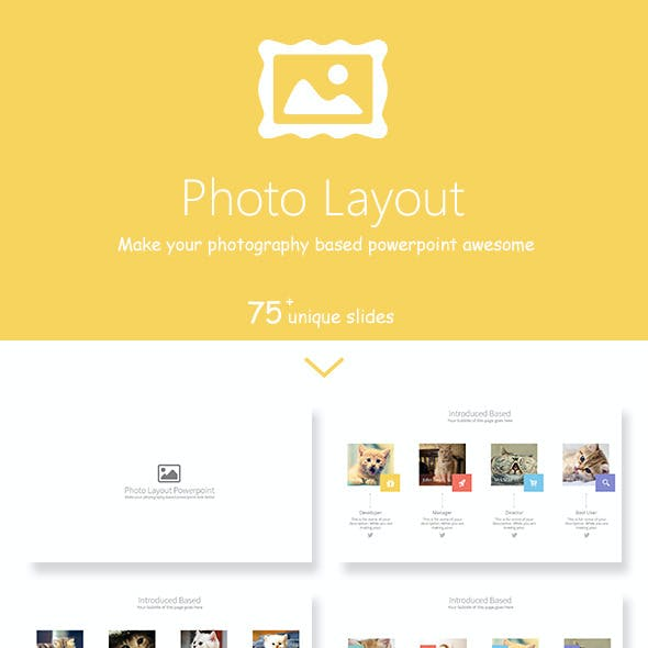 Photo Layout Powerpoint Presentation Template