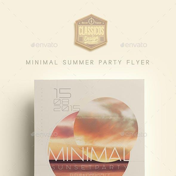 MINIMAL MODERN SUMMER PARTY FLYER