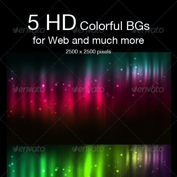 5 HD Space Backgrounds