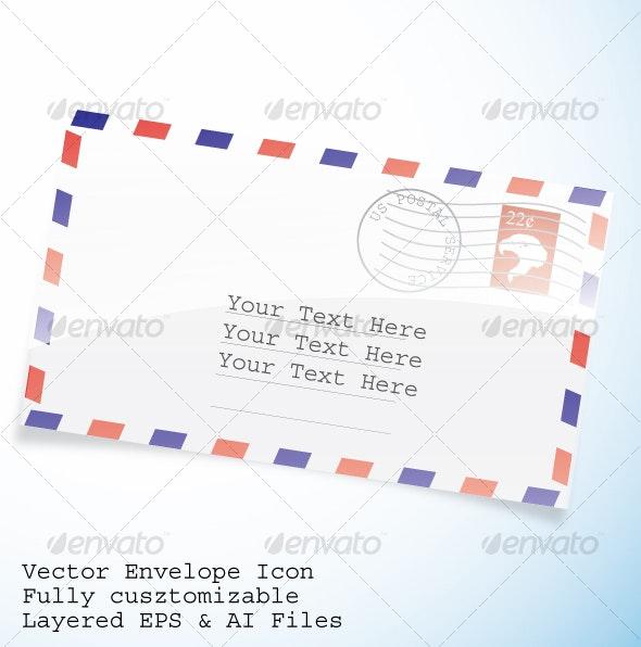 Vector Envelope  Icon - Technology Conceptual