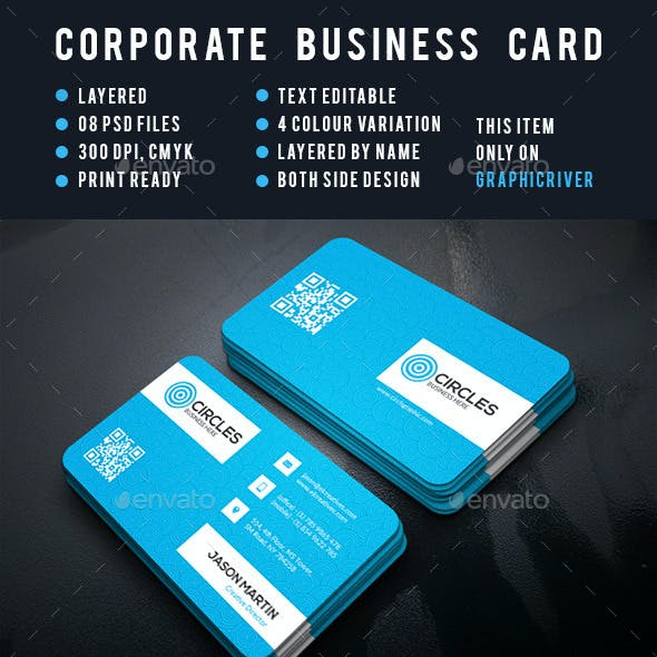 Cricles Corporate Business Card