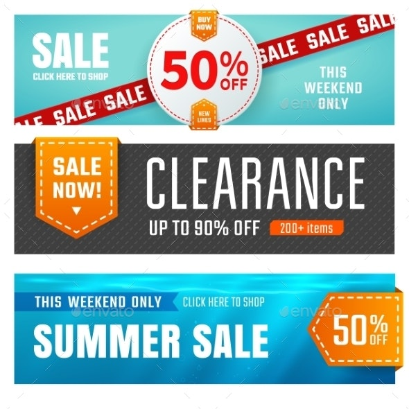 Sale Banners - Retail Commercial / Shopping