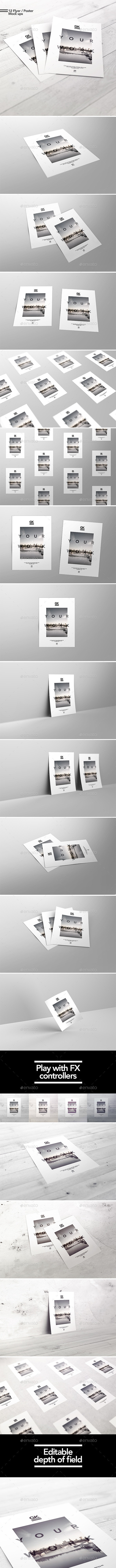 A4 / A5 /  Flyer  / Poster Mockup - Posters Print