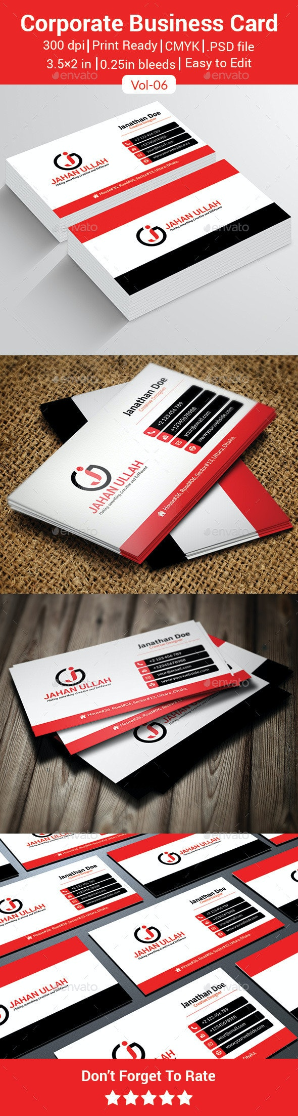Corporate Business Card V-06 - Business Cards Print Templates