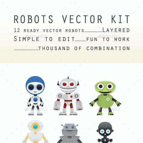 Robots Vectors Kit