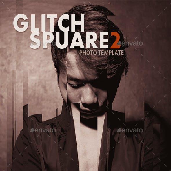 Glitch Square 2 Photo Templates Feature