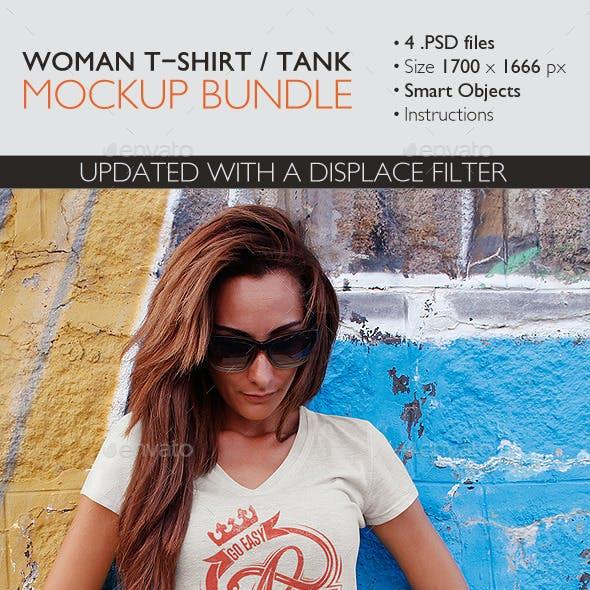 Woman T-Shirt and Tank Top Bundle